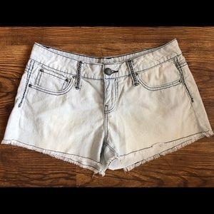 Daytrip denim striped shorts